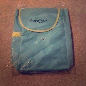 Kumon blue yellow backpack